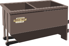 2 Compartment 15 and 20-yard Roll-Off Dumpster for Shingle Recycling